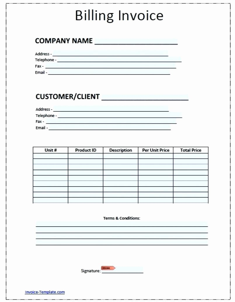 Template Contractor forms Template