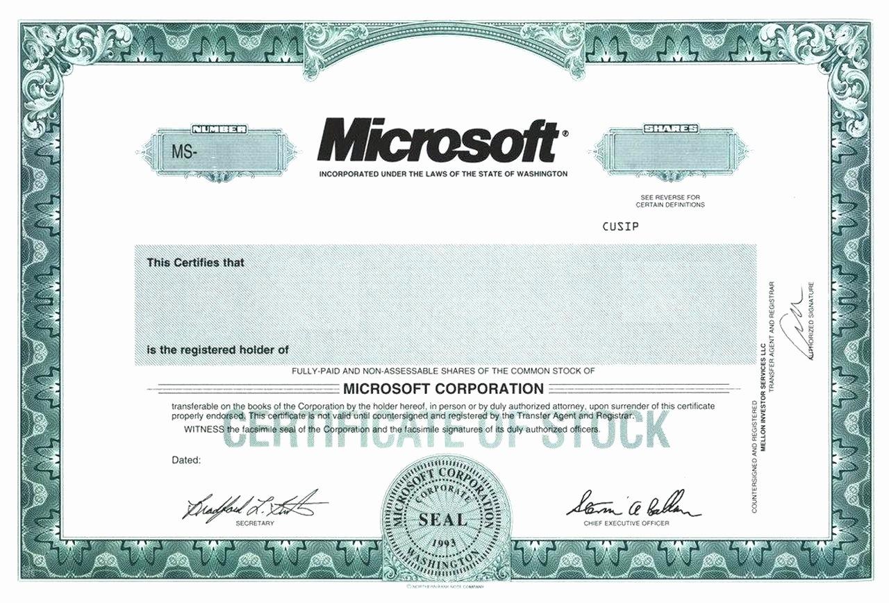 Template Corporate Certificate Template