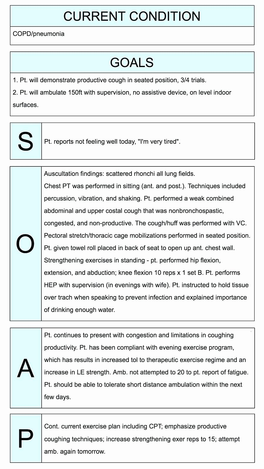 Template Counseling Progress Note Template