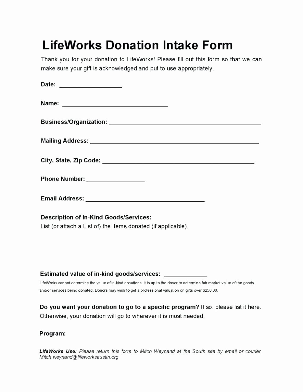 Template Donation Receipt Letter Template