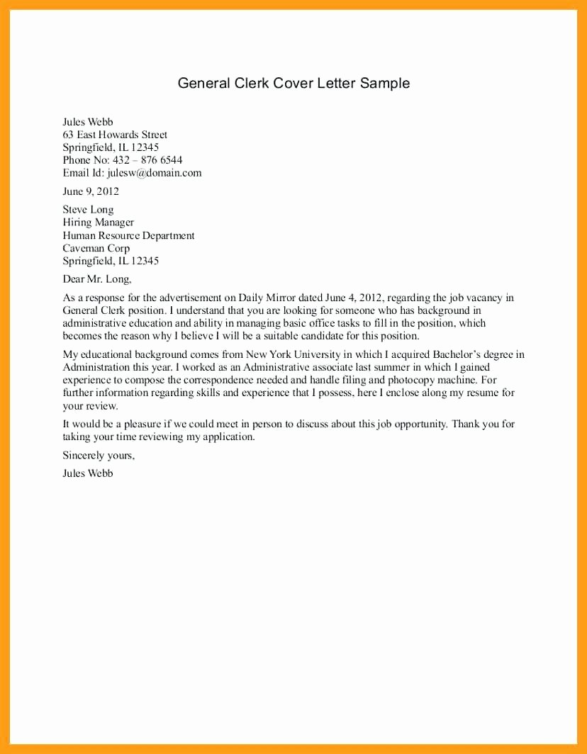 Template Easy Cover Letter Template