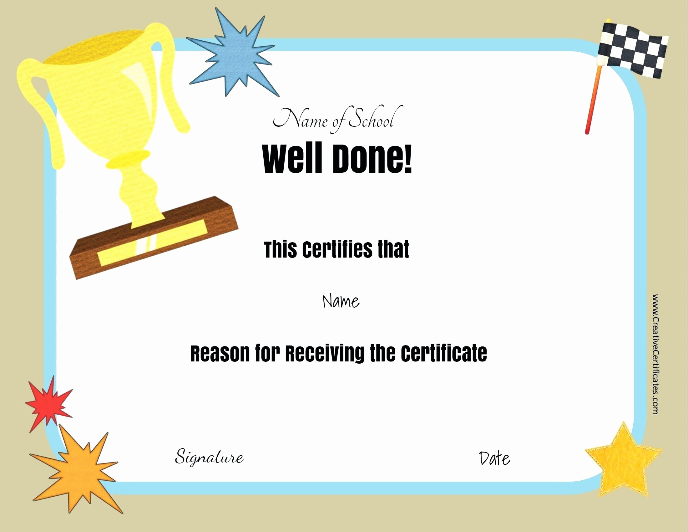Template Editable Award Certificate Template