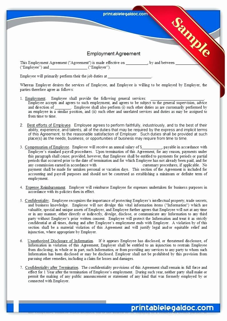 Template Employee Agreement Template