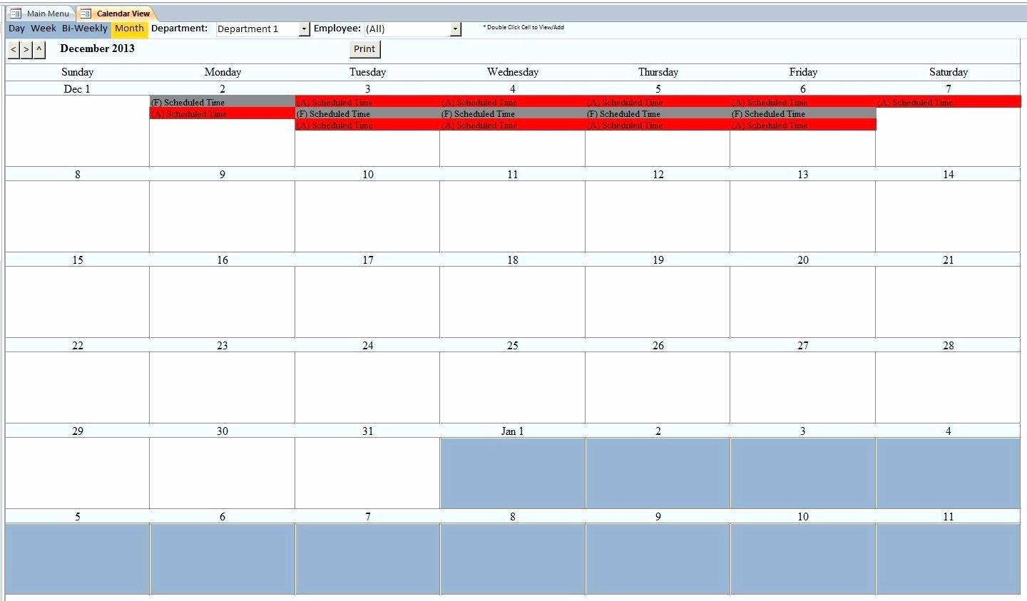 Template Employee Database Template Scheduling Microsoft