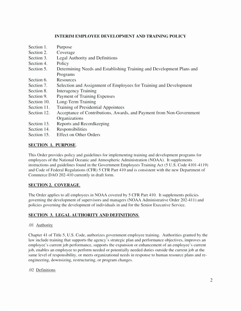 Template Employee Guidelines Template