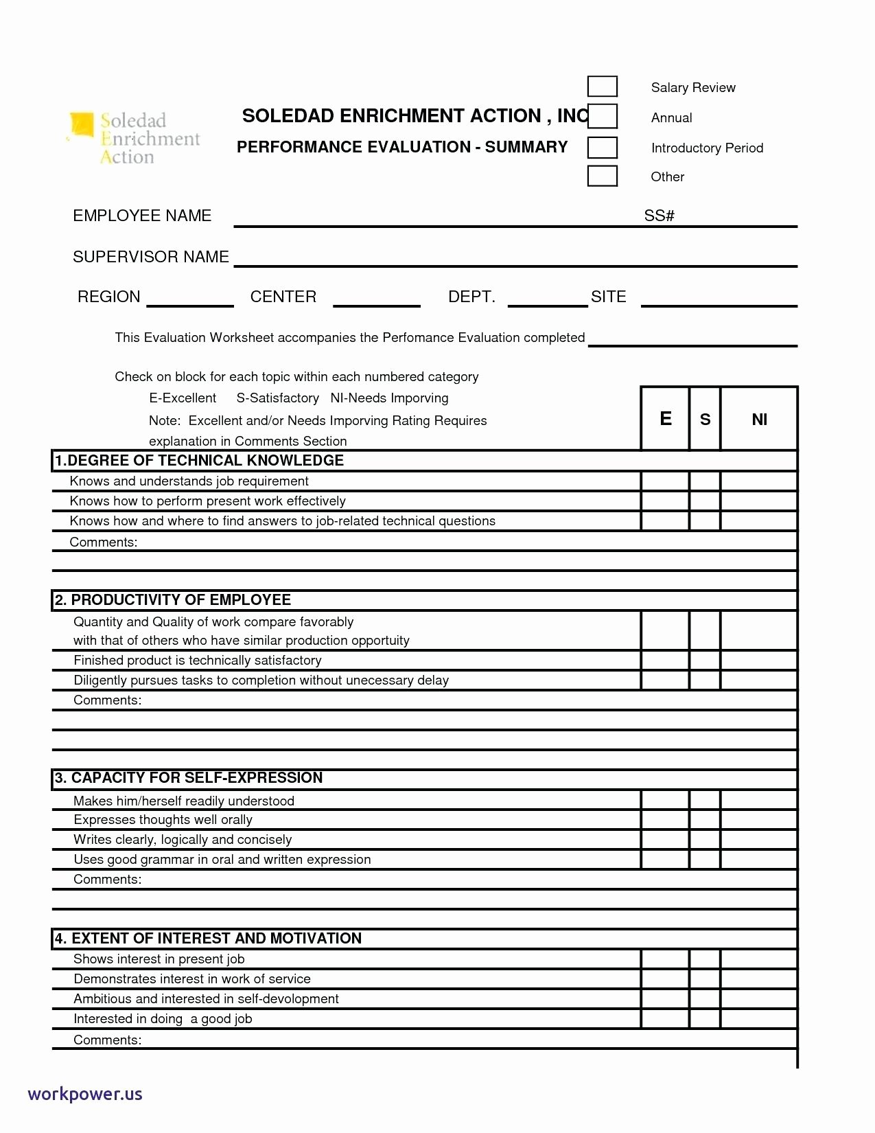 Template Employee Questionnaire Template