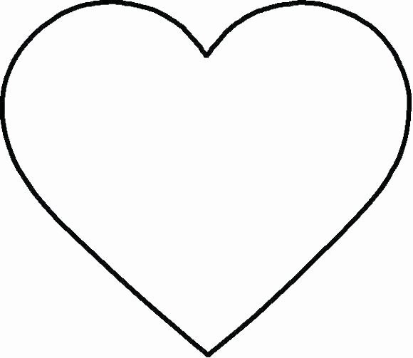 Template Extra Printable Heart Template
