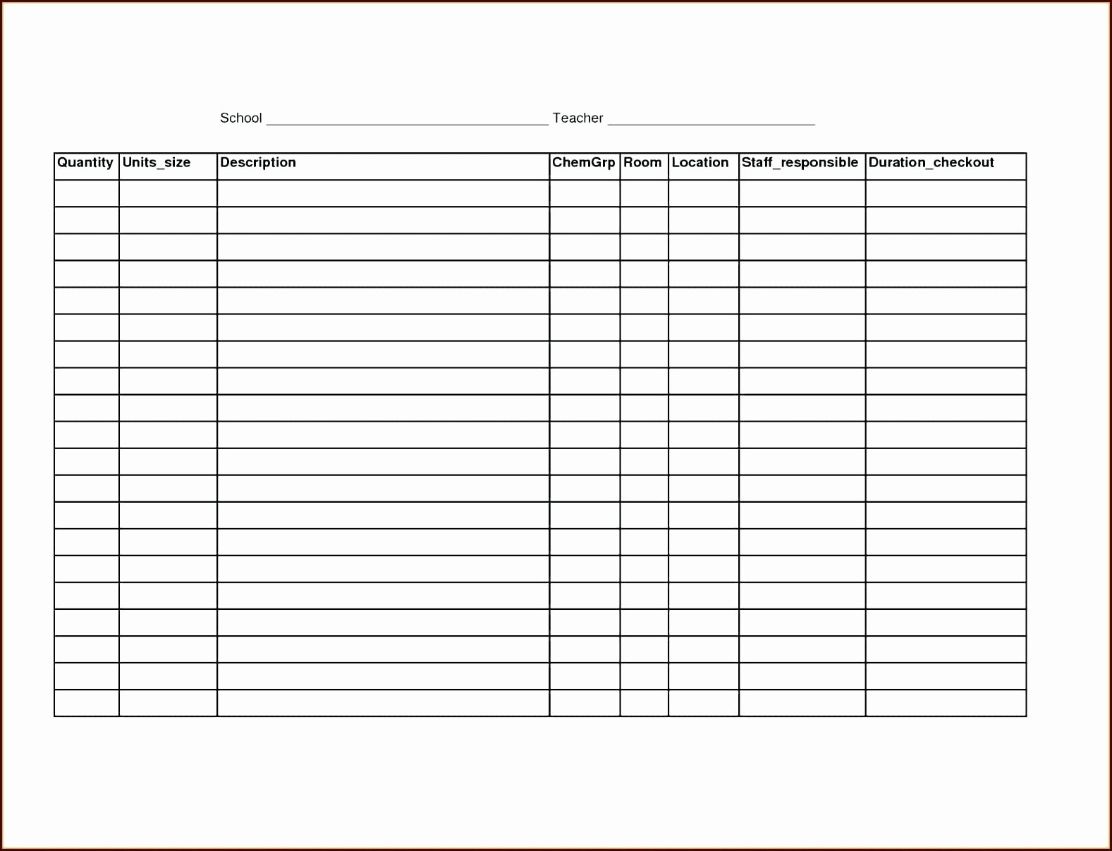 Template Fice Supplies order form Template fortable