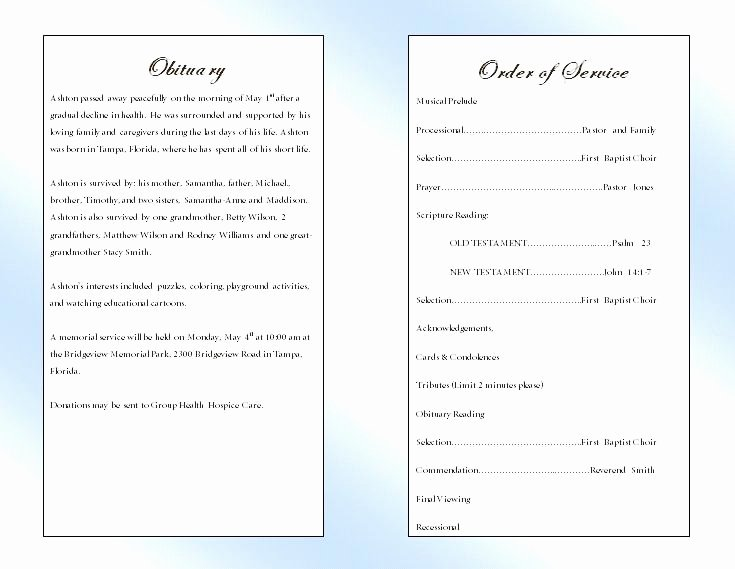 Template for Catholic Funeral Mass Program – Azserverfo