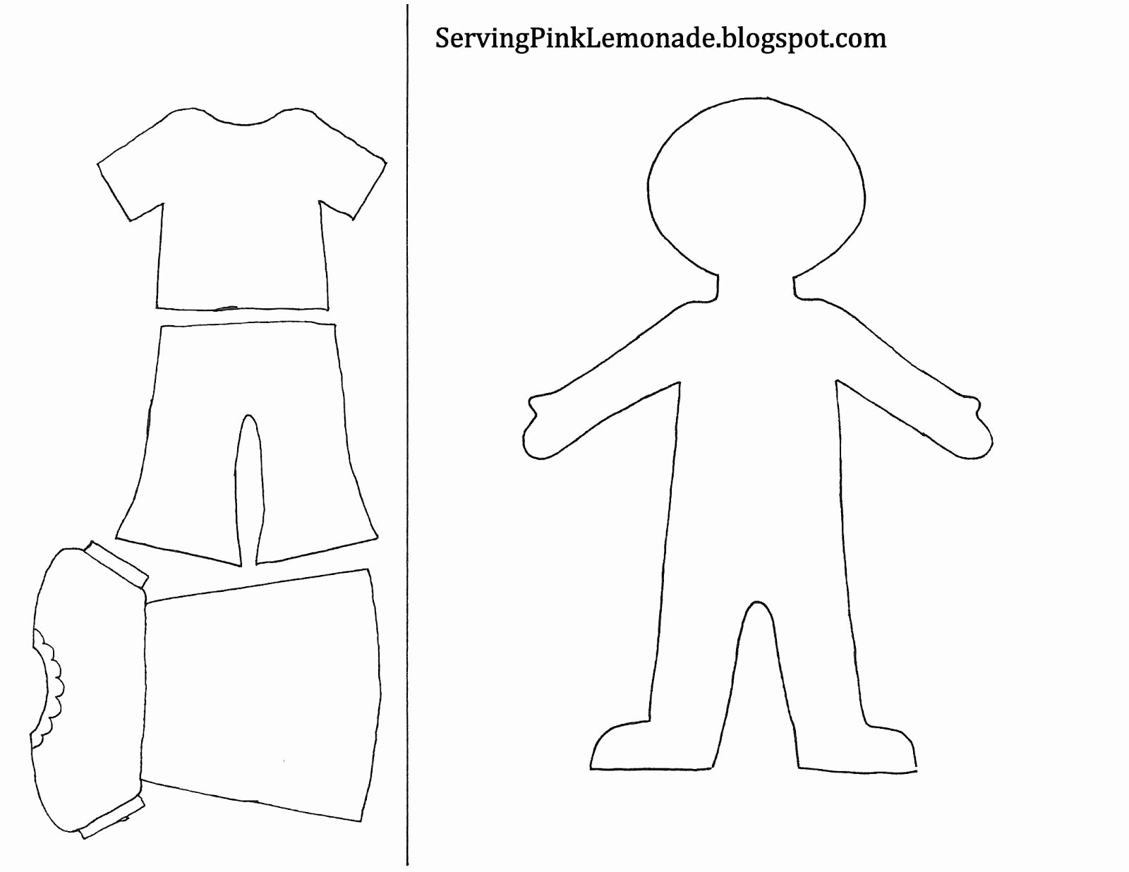 Template for Girl and Clothes Also Mailbox Tree for
