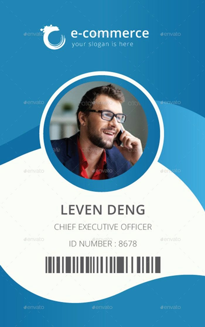 Template for Identification Card Id Badge