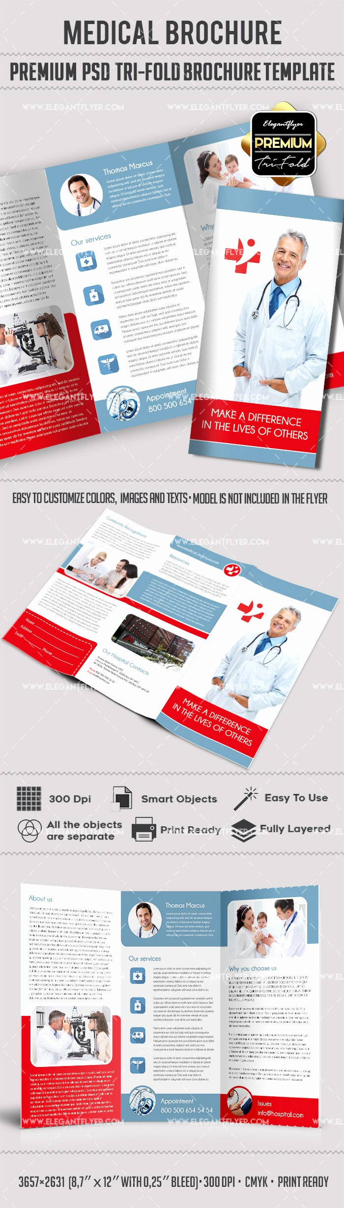 Template for Live Well Medical Center – by Elegantflyer