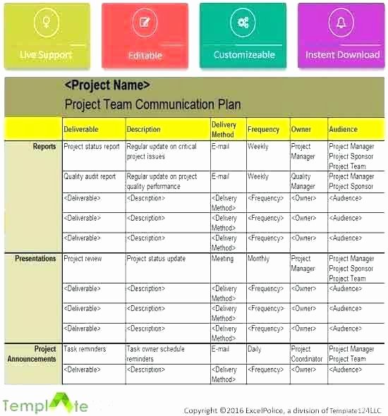 Template for Munication Plan – Picks
