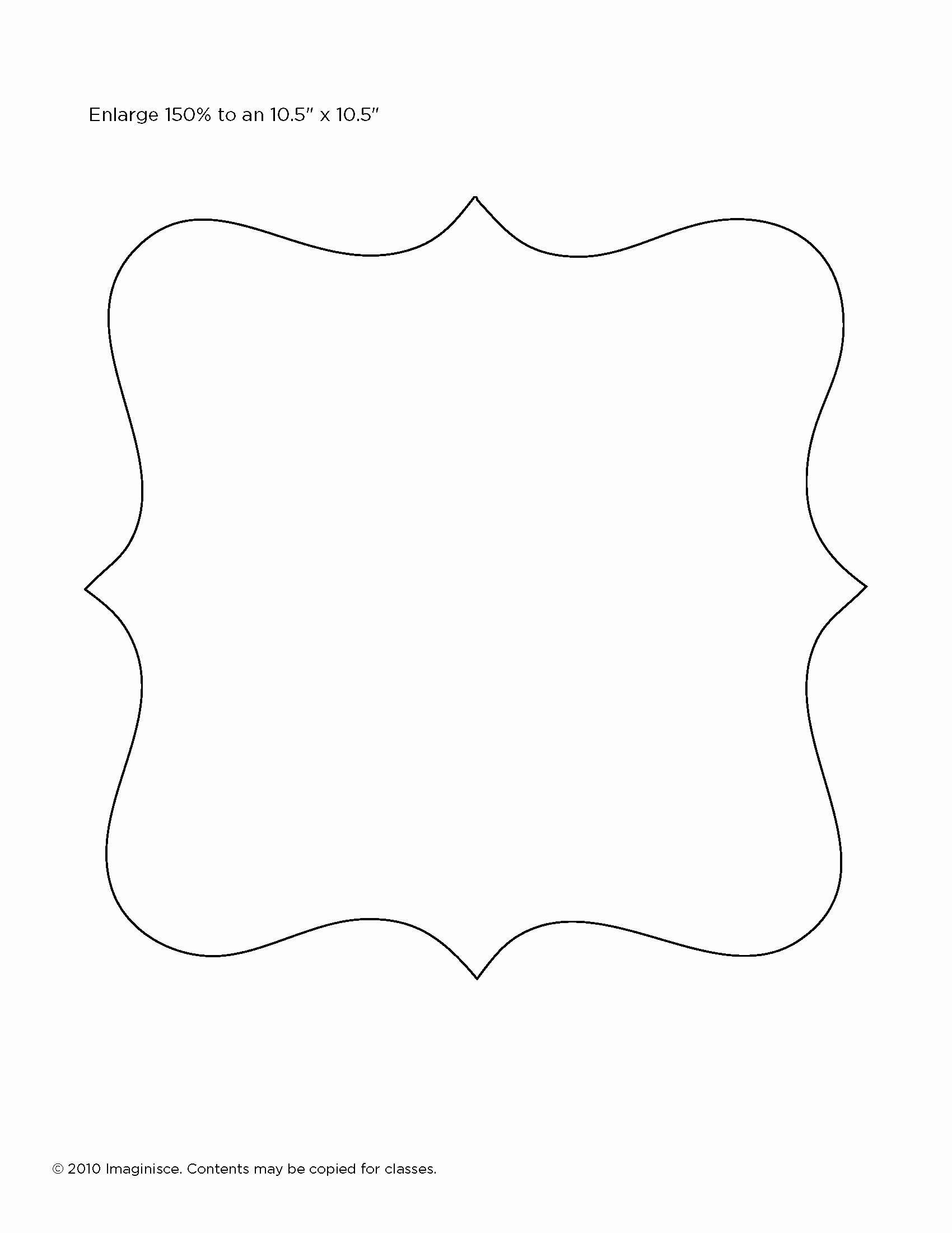 Template for Picture Frame Manualidades