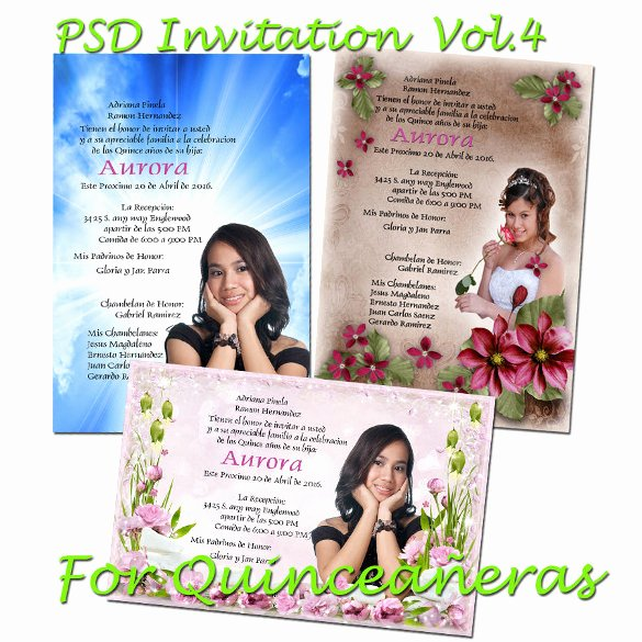 Template for Quinceanera Invitation Free – orderecigsjuice