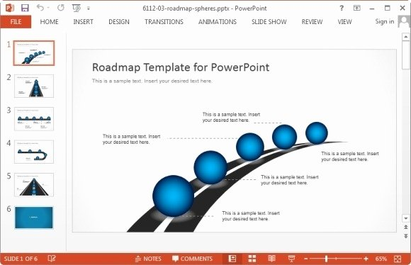 Template for Roadmap Presentation