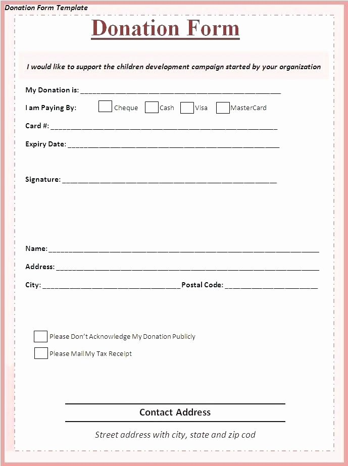 Template for Silent Auction Donation form – Bleachbathfo