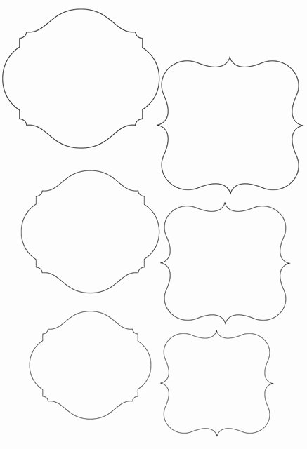 Template Frame Cute for Price Tags