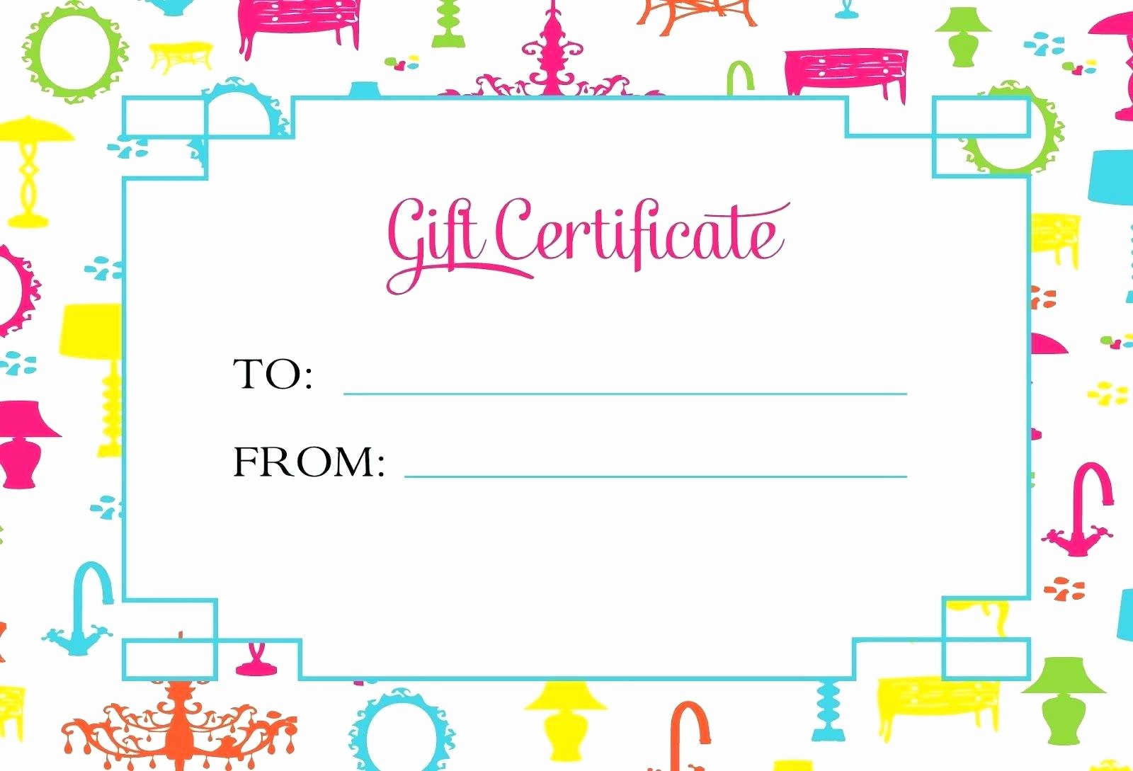Template Gift Certificate Template Printable
