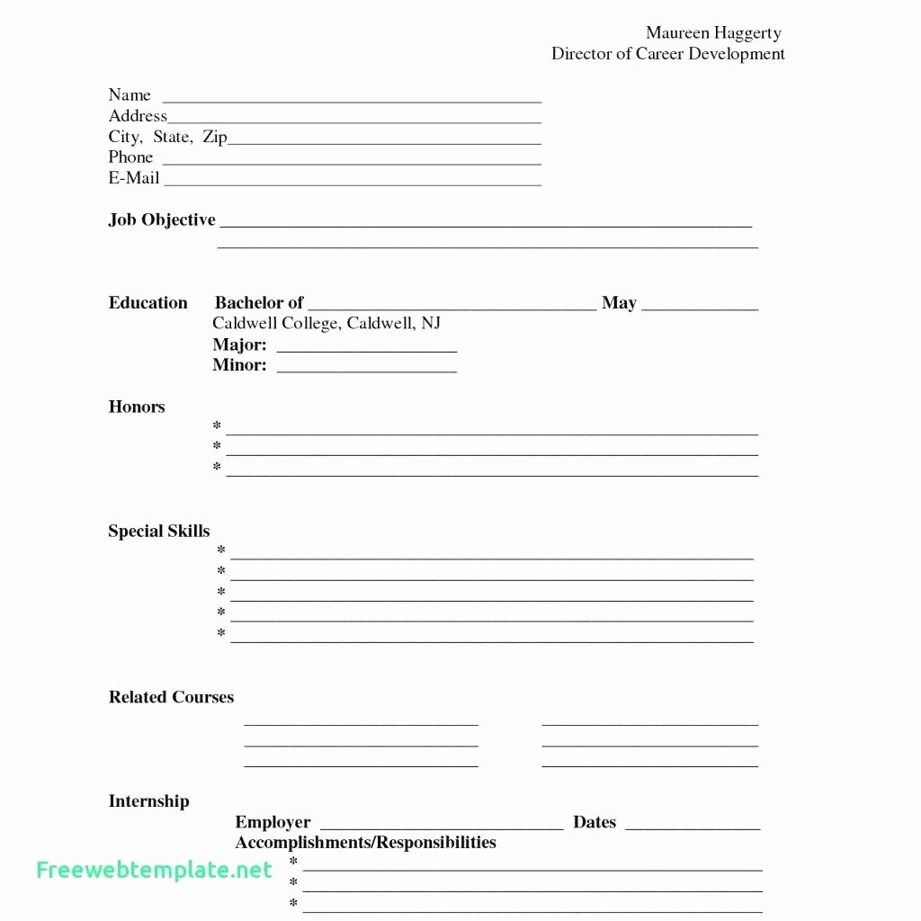 Template Job Description form Template