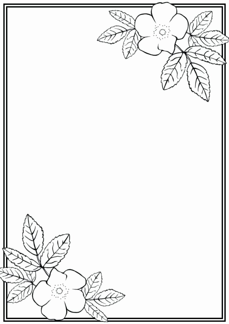 Template Leaf Writing Template with Lines
