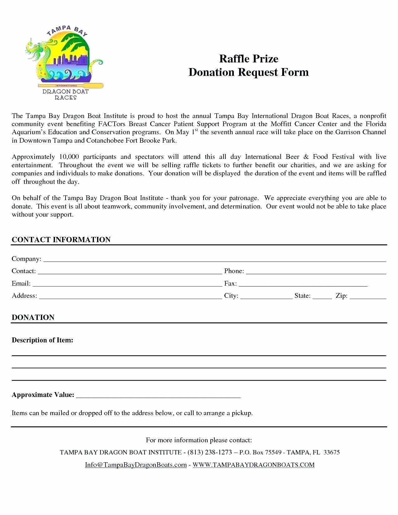 Template Letter Template for Donations Request