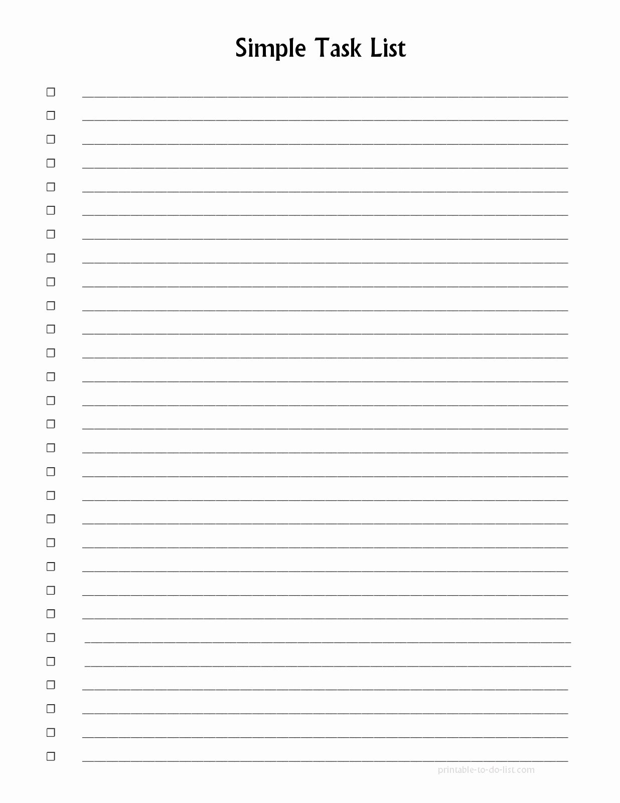 Template List Things to Do Template