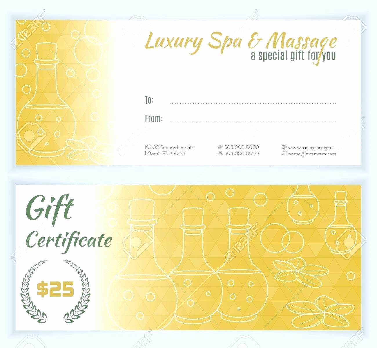 Template Massage therapy Gift Certificate Template