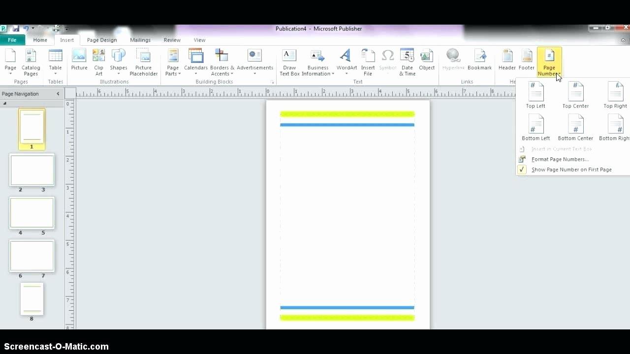 Template Microsoft Publisher Design Template