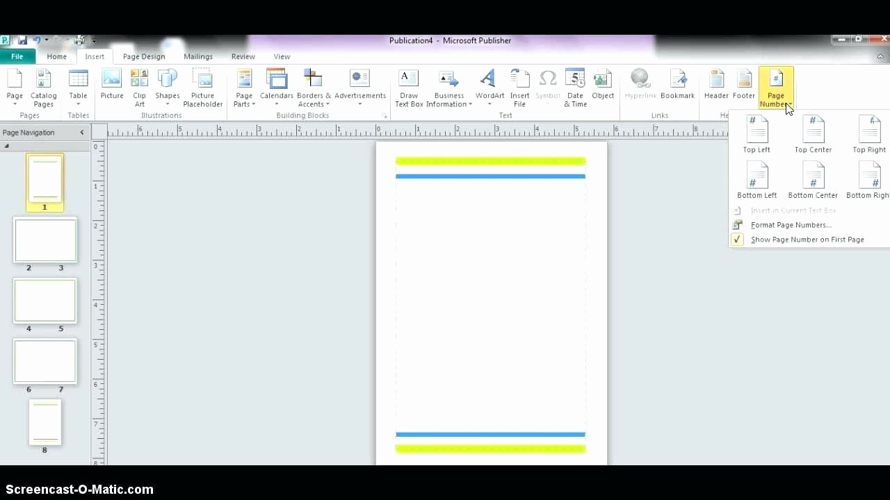 Template Microsoft Publisher Design Template