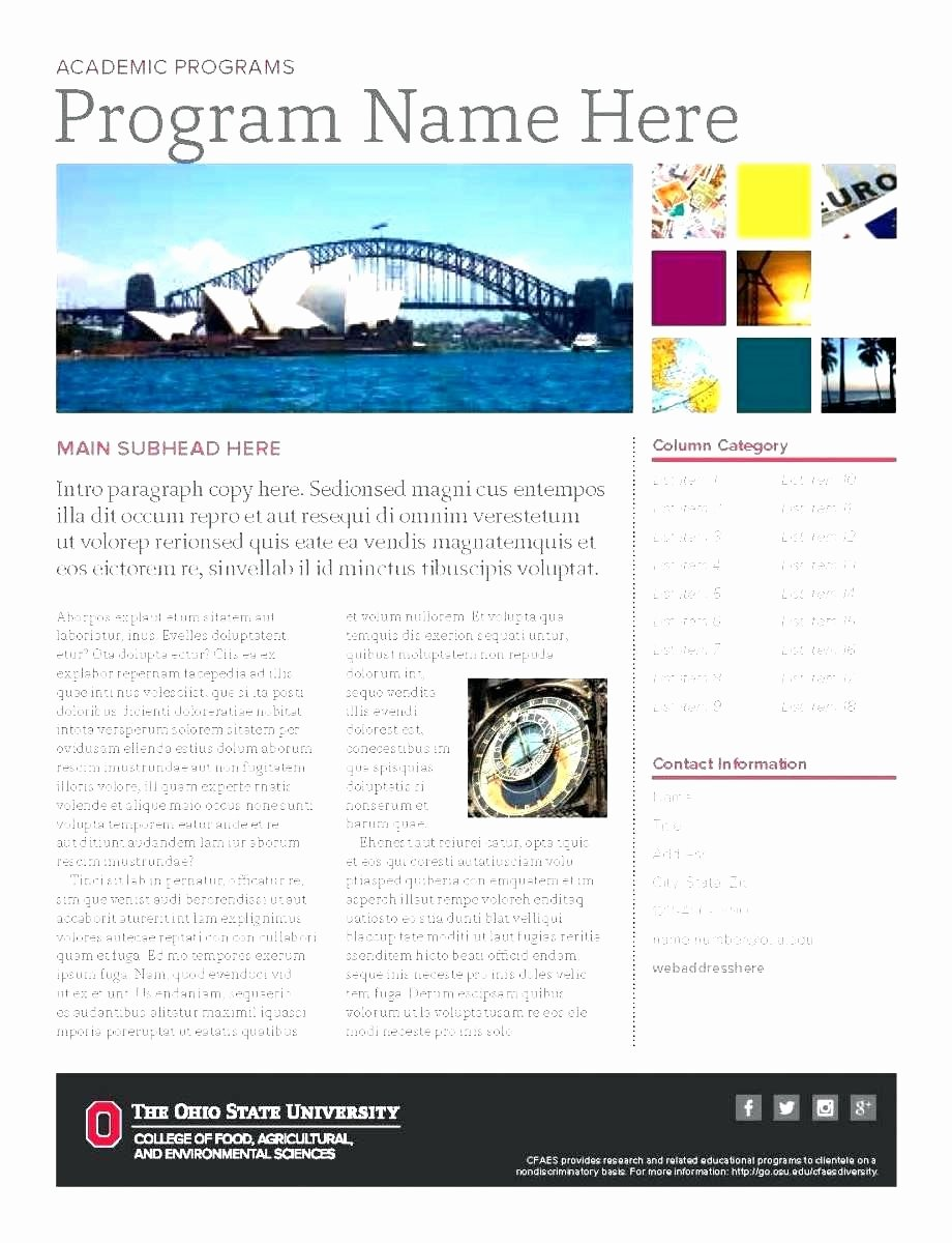 Template Microsoft Publisher Template Brochure