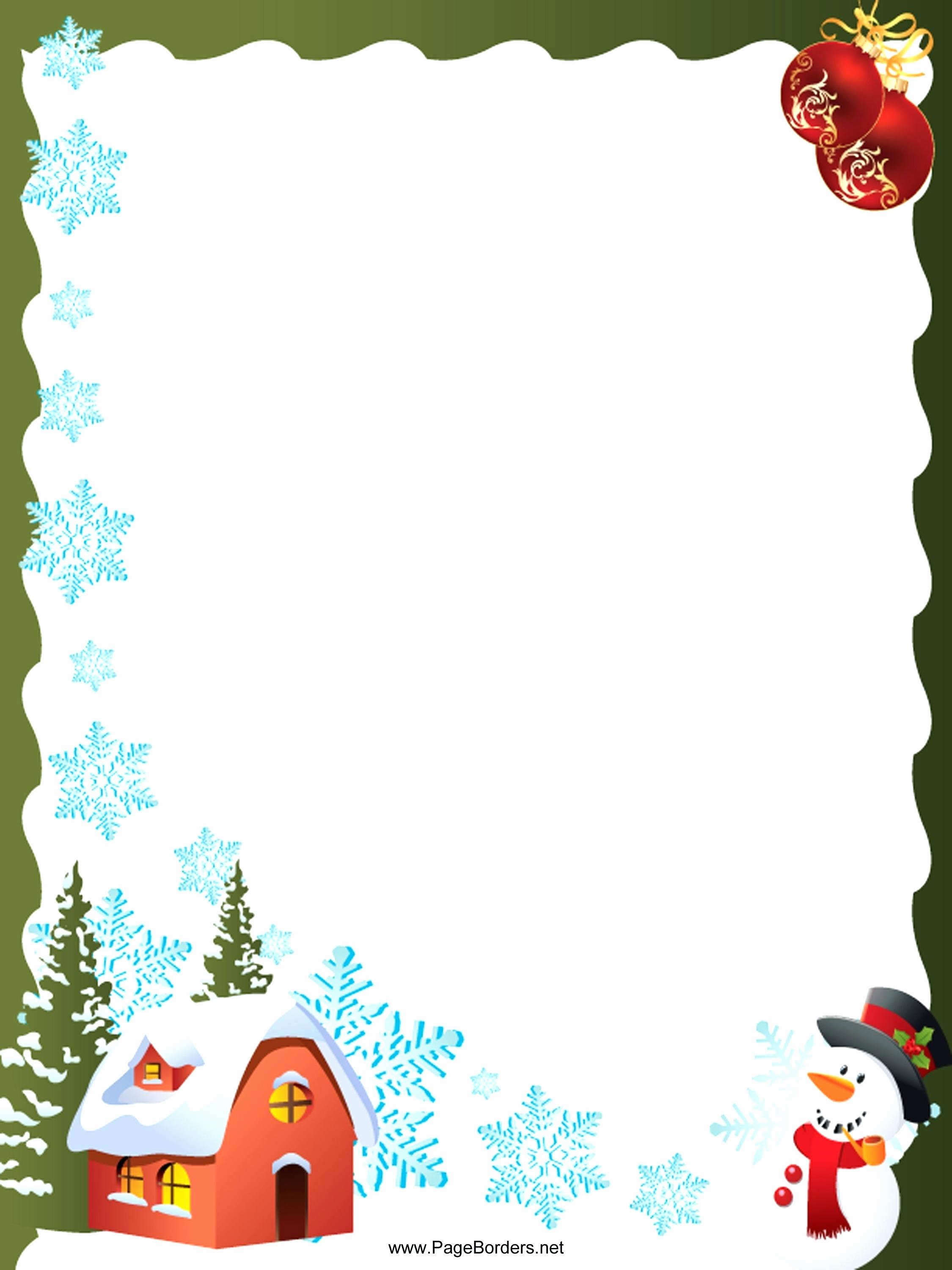 Template Microsoft Word Christmas Letter Template