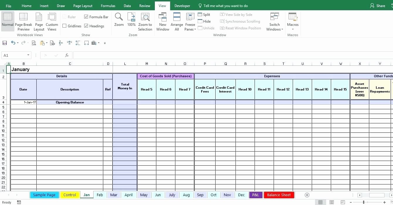 Template Monthly Financial Statement Template Church