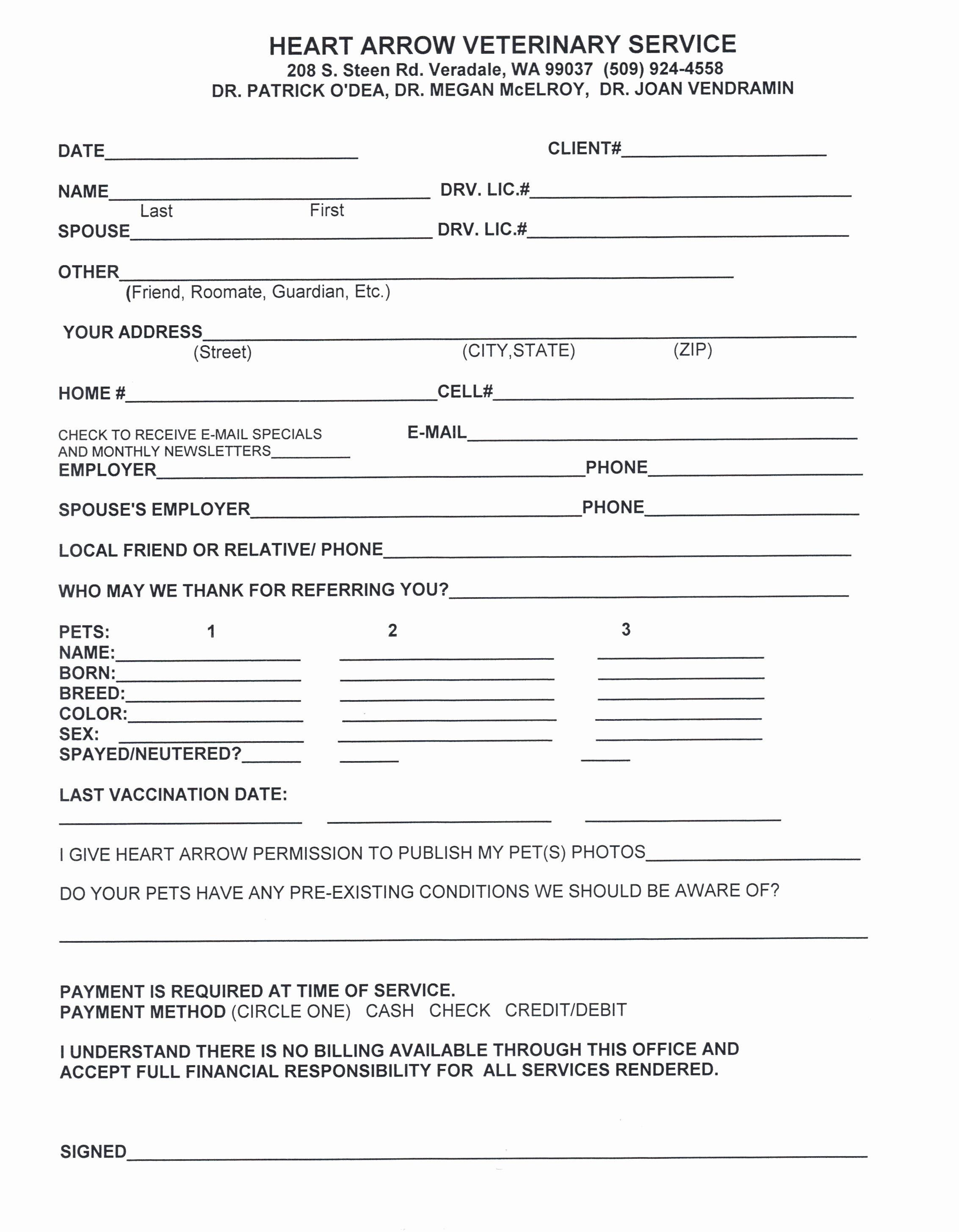 Template New Customer form Template