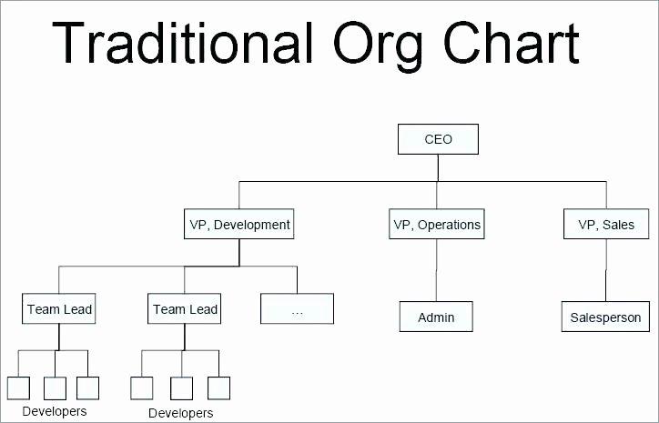 Template Non Profit organization Chart Template Sample