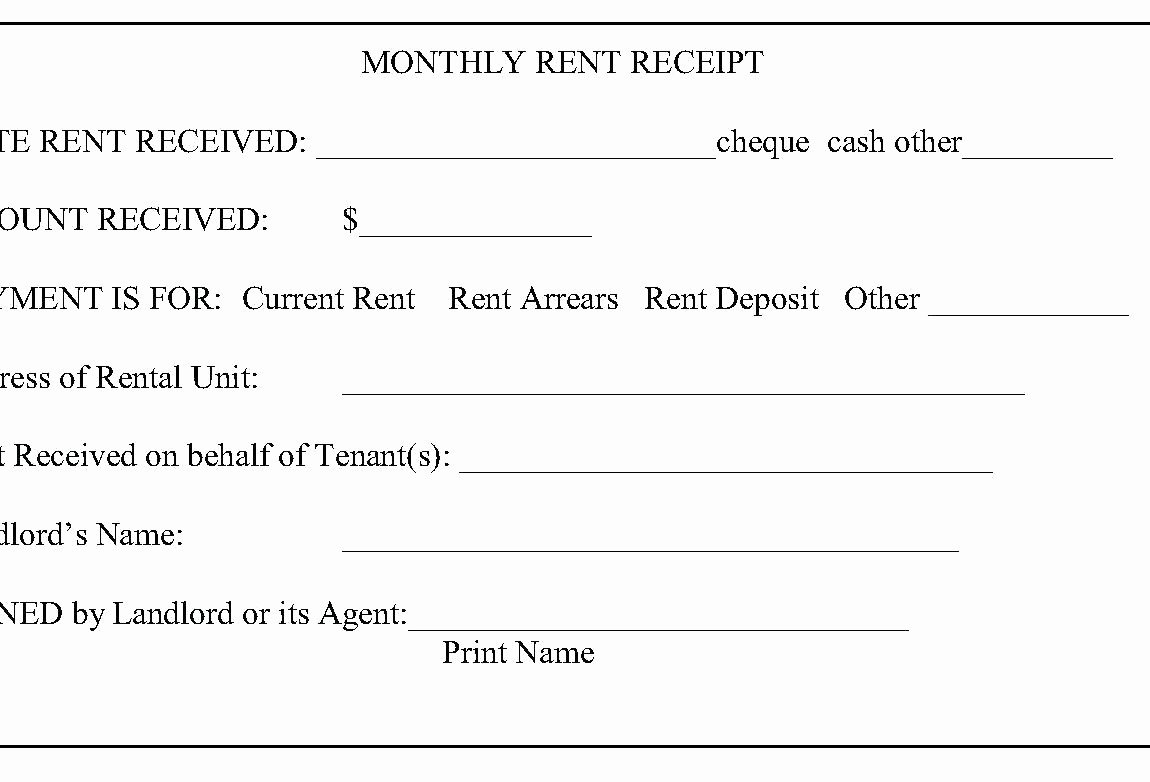 Template Paid In Full Template Rent Receipt for Tenant