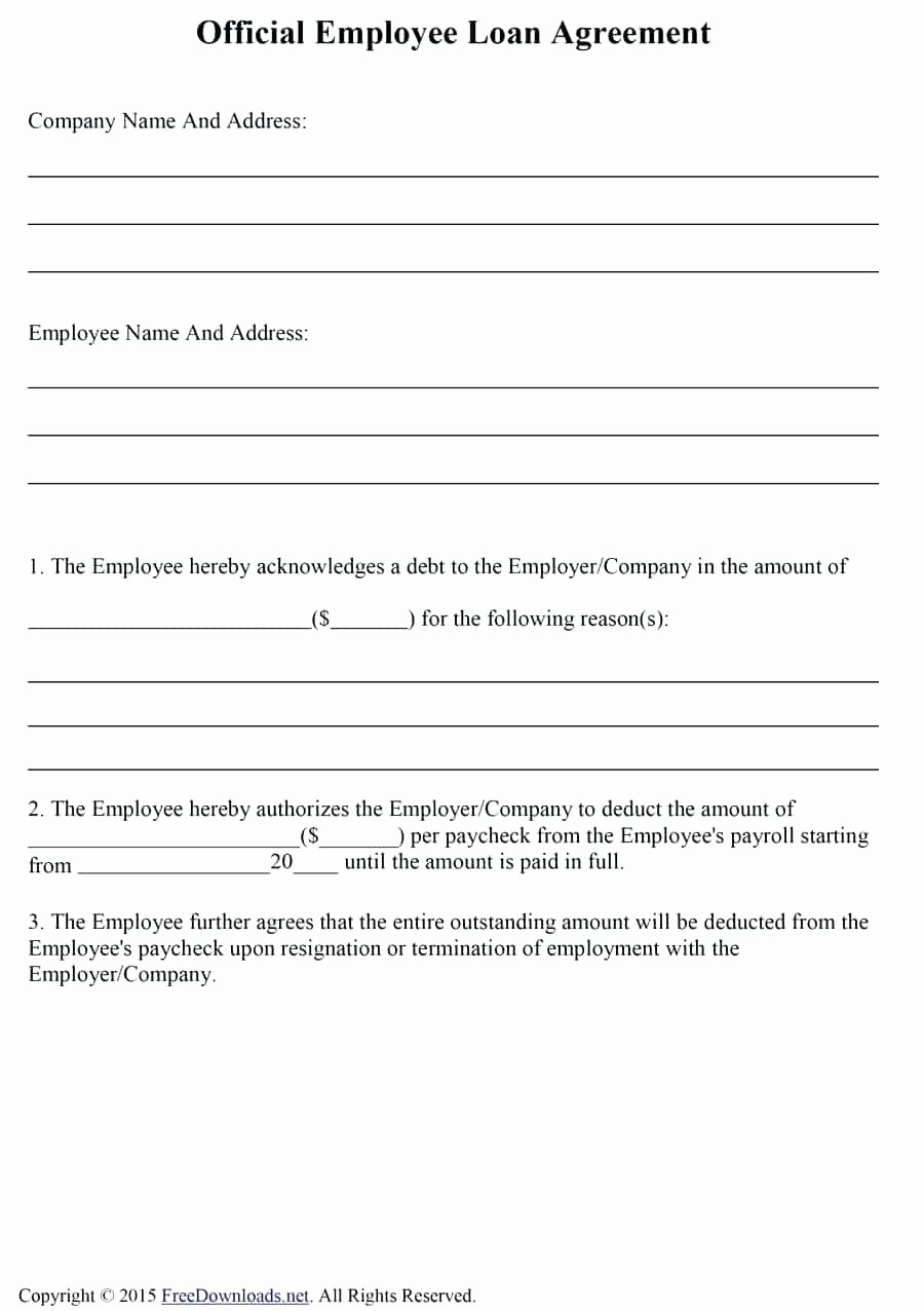 Template Payroll Deduction Authorization form Template