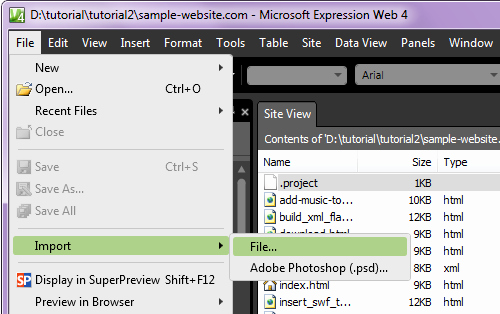 Template Per Microsoft Expression Web Tutorial Needssokol