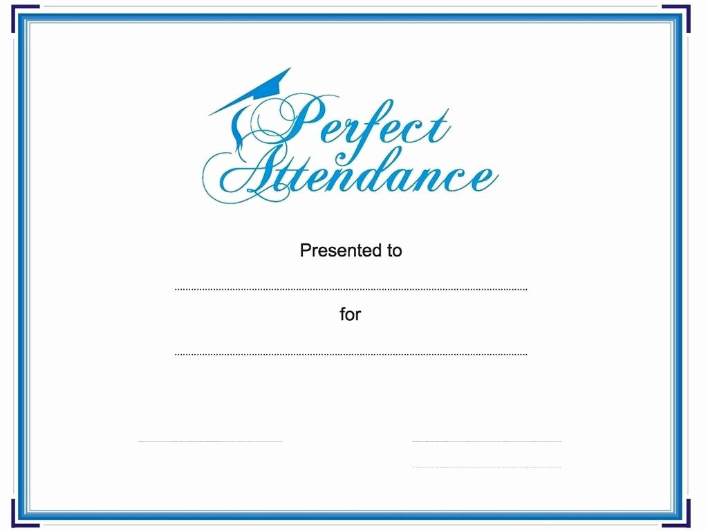 Template Perfect attendance Award Template