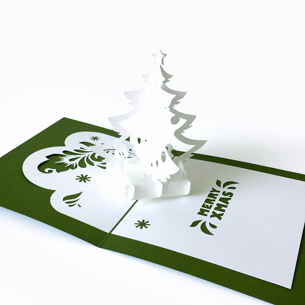 Template Pop Up Card Christmas Tree