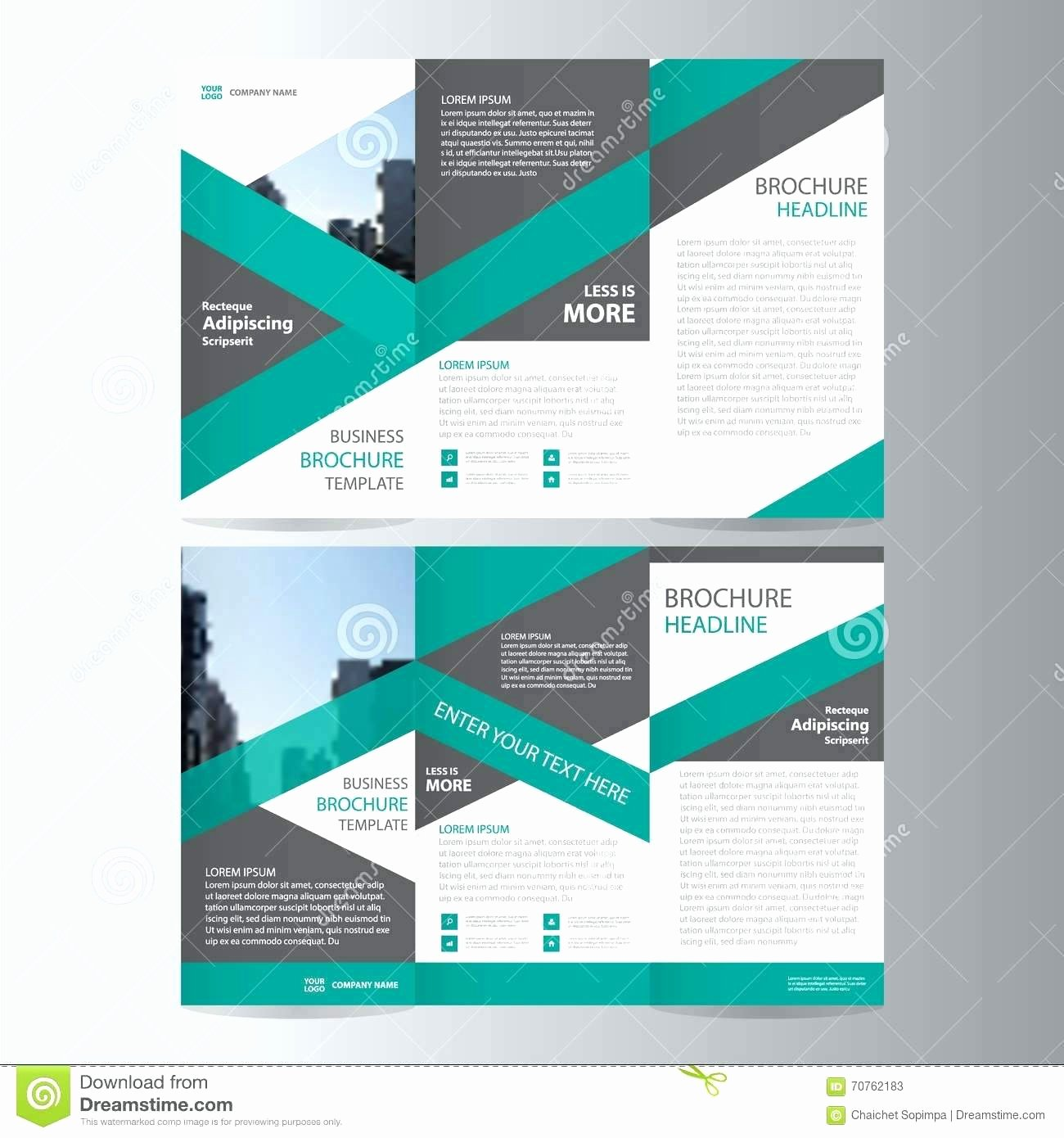 Template Powerpoint Brochure Template Tri Fold