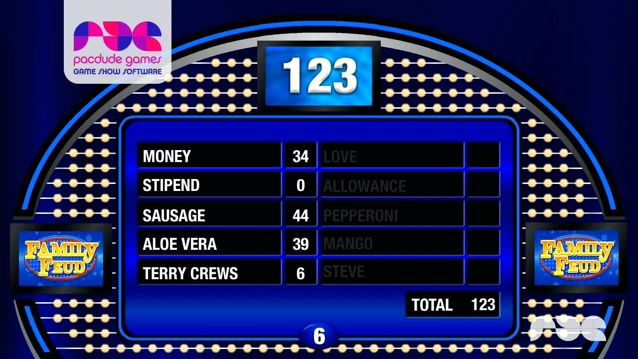 Template Powerpoint Game Template Family Feud