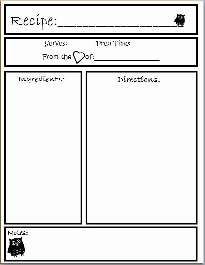 Template Preschool Cookbook Printable Yahoo Image Search