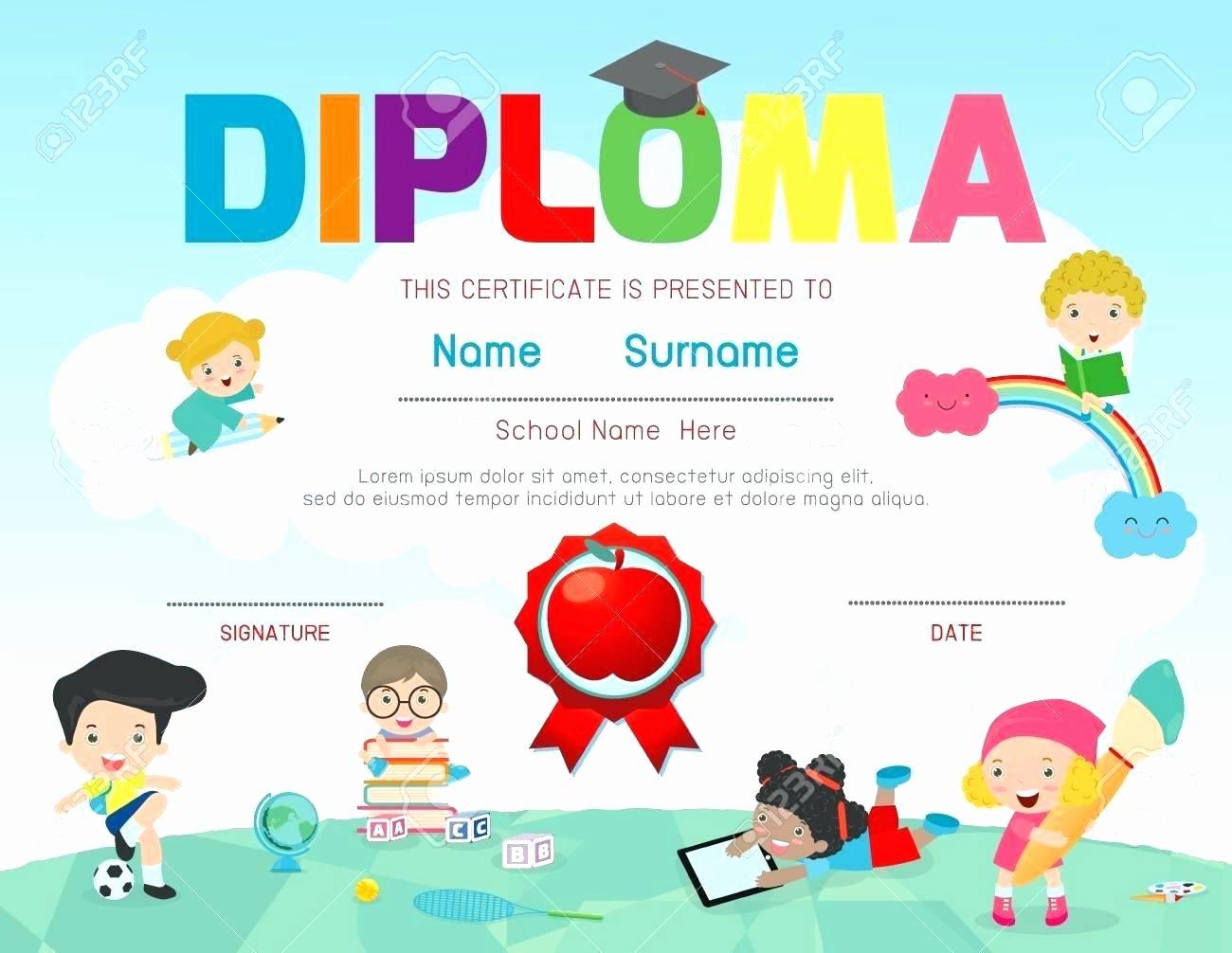 Template Preschool Diploma Template