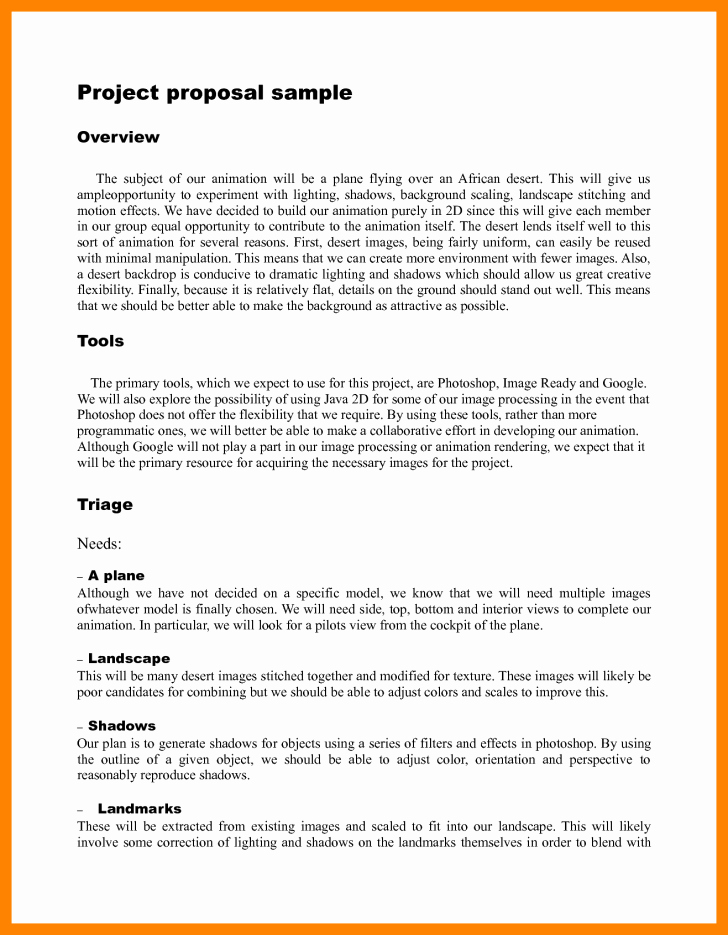 Template Project Proposal Template