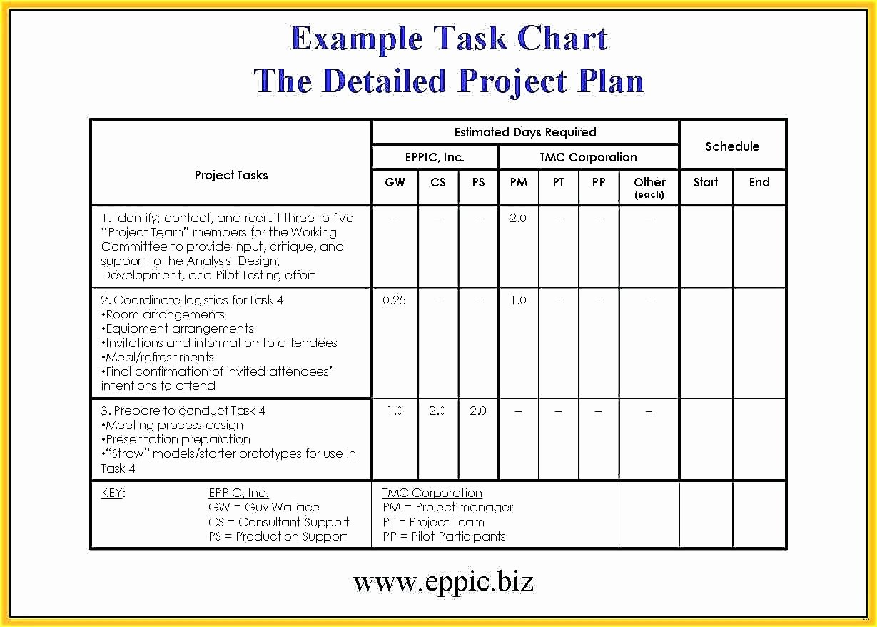 Template Project Rollout Plan Template