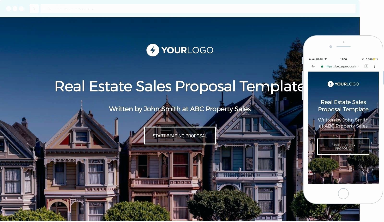 Template Real Estate Business Proposal Template