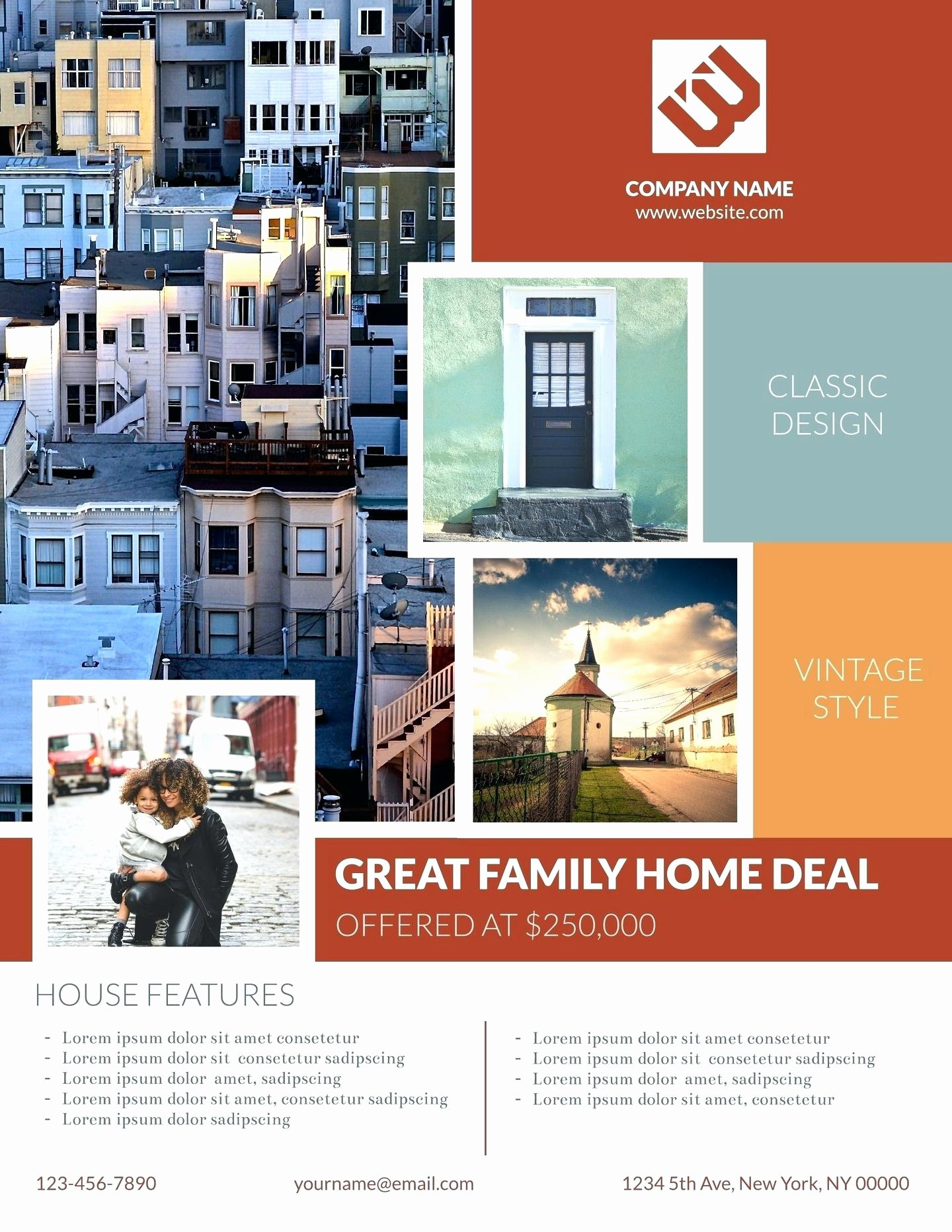 Template Real Estate Flyer