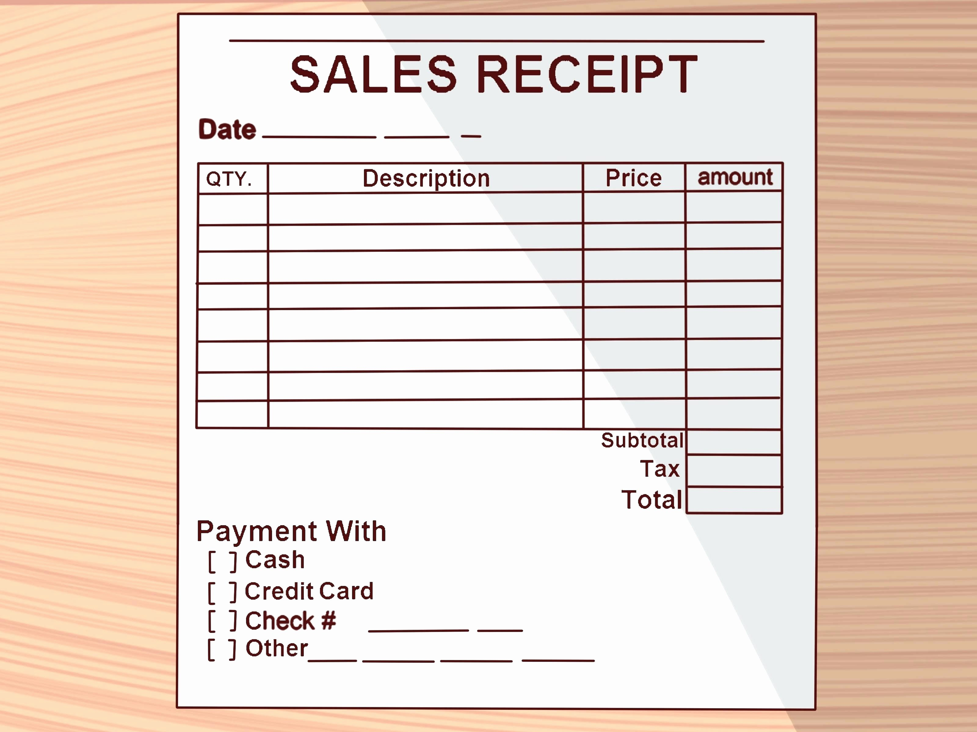 Template Receipt Goods Template