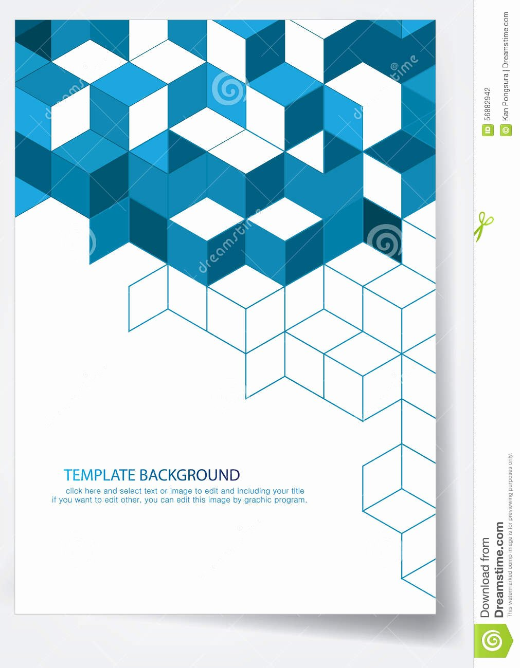 Template Report Cover Design Stock Vector Illustration